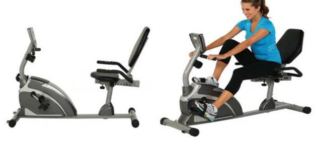 Exerpeutic 900XLExtended Capacity Recumbent Bike with Pulse